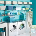 Even your laundry room can be a place that'll make you feel happy if it's pretty and organized.