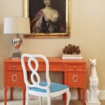 Jill Sorensen Bedroom-DIY orange desk