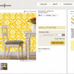 Ikat Damask - Golden Rod wallpaper by pattysloniger for sale on Spoonflower - custom wallpaper