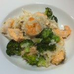 Steamed Risotto with Broccoli and Seafood
